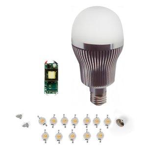 LED Light Bulb DIY Kit SQ-Q32 12 W (cold white, E27)