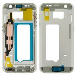 Housing Middle Part Samsung G930F Galaxy S7, (white)