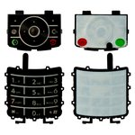 Teclado Motorola Z3, negra, superior, inferior, caracteres latinos