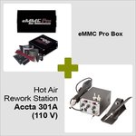 eMMC Pro Box + Estación de soldadura de aire caliente Accta 301A (110 V)