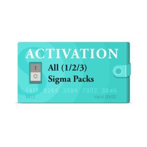 Активации Sigma Pack 1, Pack 2 и Pack 3