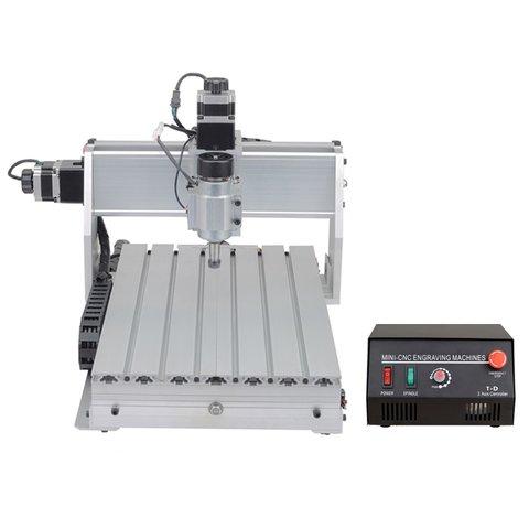 Настольный 3-осевой фрезерно-гравировальный станок ChinaCNCzone 3040T-DJ V2 (230 Вт)