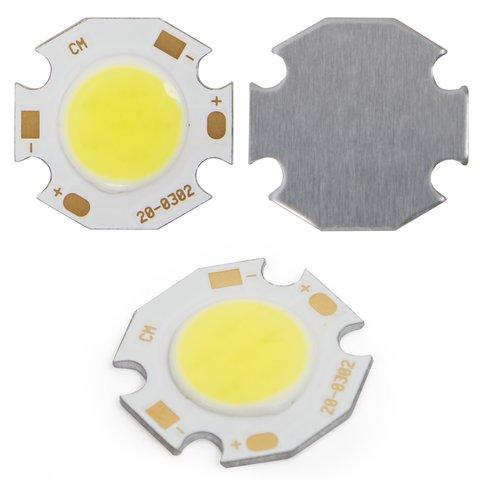 COB LED модуль 3 Вт холодний білий, 250 лм, 20 мм, 300 мА, 9 12 В