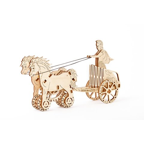Механический 3D-пазл Wooden.City Римская колесница